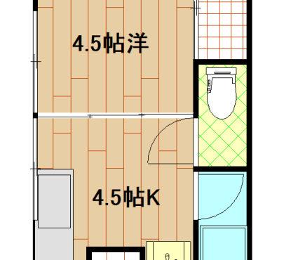 高知市桟橋通り 1Kアパート